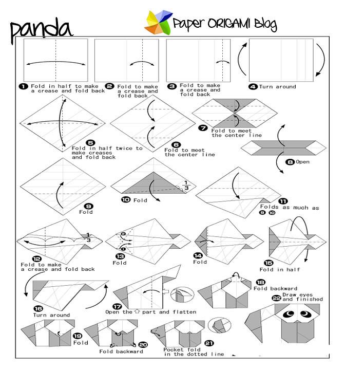 Panda Origami Diagram If You Want More Jus Flickr Rh Com