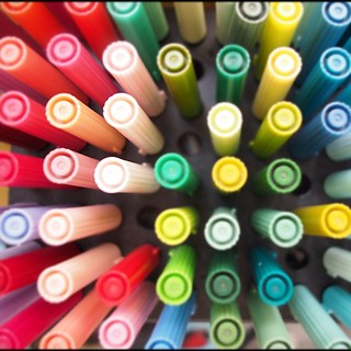 Tombow ABT brushes, painting day with kid | by Patrick Ng
