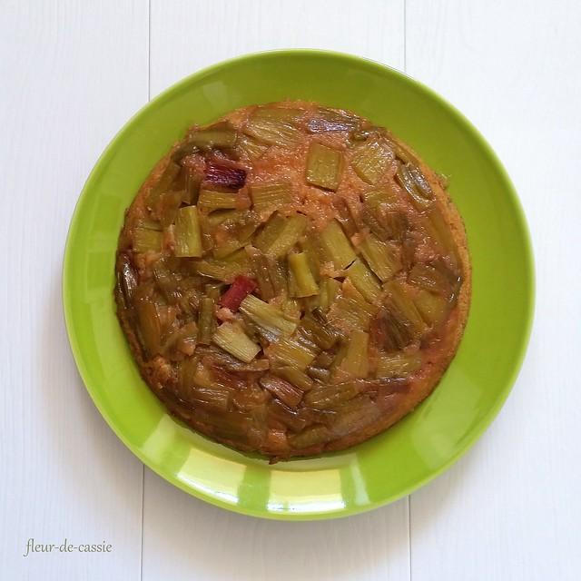 перевернутый пирог с ревенем 1