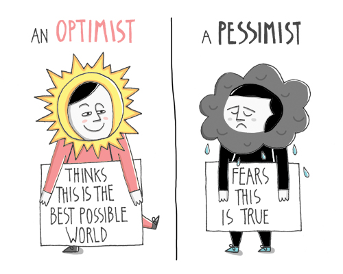 are you pessimistic or optimistic What do you picture in your mind when you hear the word optimism the vast  majority of us associate optimism with that familiar image of a.