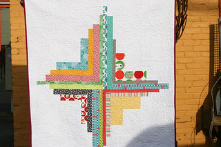 brrr! converging corners quilt back | by filminthefridge