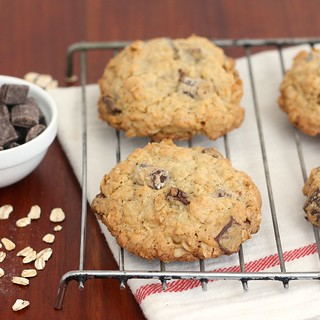 Thick and Chewy Oatmeal Chocolate Chunk Cookies | by Tracey's Culinary Adventures