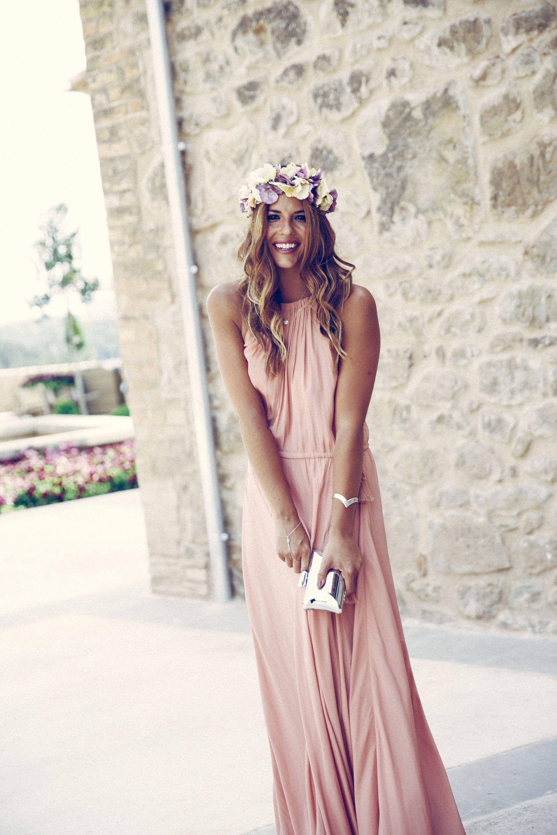 Vestido largo flores boda dia – Vestidos de moda blog de fotos del sitio