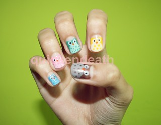 Owl Nail Art II | by quickendeath
