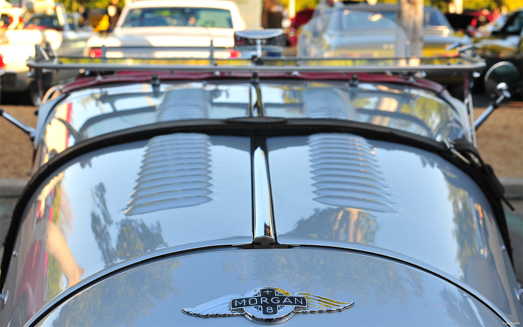 2003 Morgan Plus 8  silver  black  hood emblem  Cars  Flickr