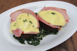 EGGS BENEDICT ON A BED OF SPINACH | by misswangy