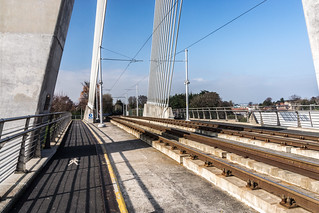 William Dargan Bridge, opened in 2004, is a cable-stayed bridge in Dundrum | by infomatique
