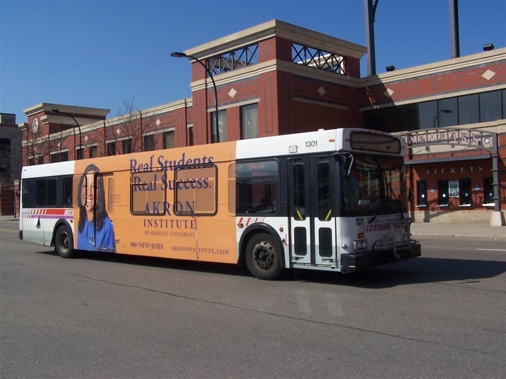 akron metro new flyer bus | seen in downtown akron | flickr