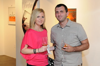 Peter Simek of D Magazine - Jordan Winery's 4 on 4 Dallas Art Competition Hosted by D Magazine at Rising Gallery | by 4on4Art