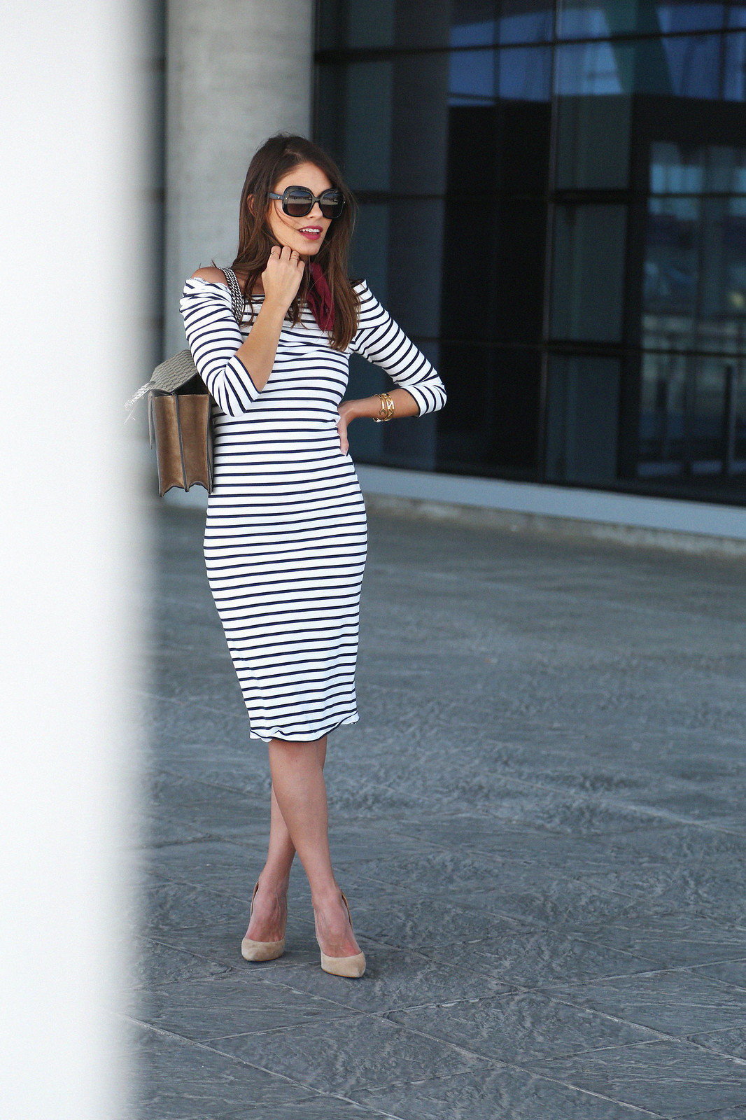 jessie chanes seams for a desire midi stripped dress-8