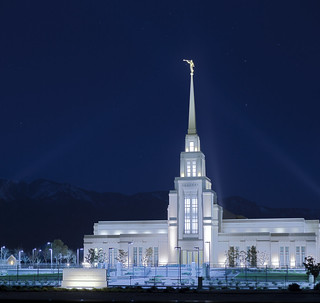 Gila Valley Temple at Night | by J. A. Branch