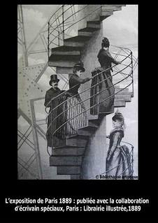 mont 233 e d un escalier de la tour eiffel biblioth 232 que
