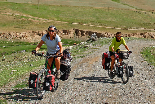 Cycling In Krgyzstan | by travelling two