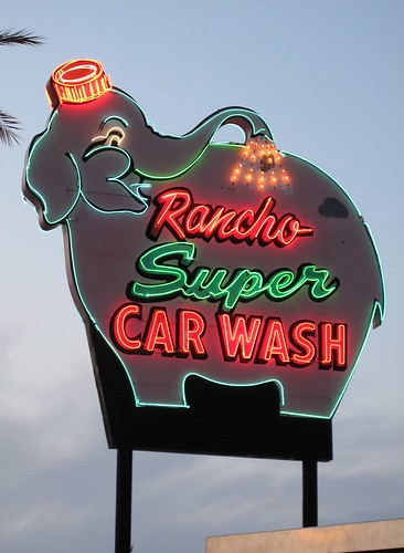 Rancho Super CAR WASH Sign, Rancho Mirage, CA
