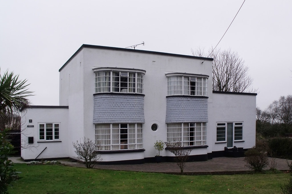 bodmin art deco house uk only one in bodmin i believe flickr