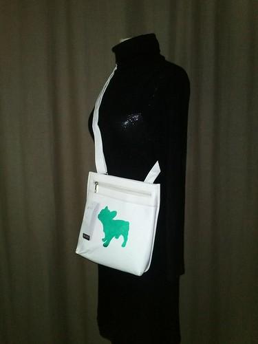 besace vert et blanc sac besace neuf customis avec l 39 ima flickr. Black Bedroom Furniture Sets. Home Design Ideas