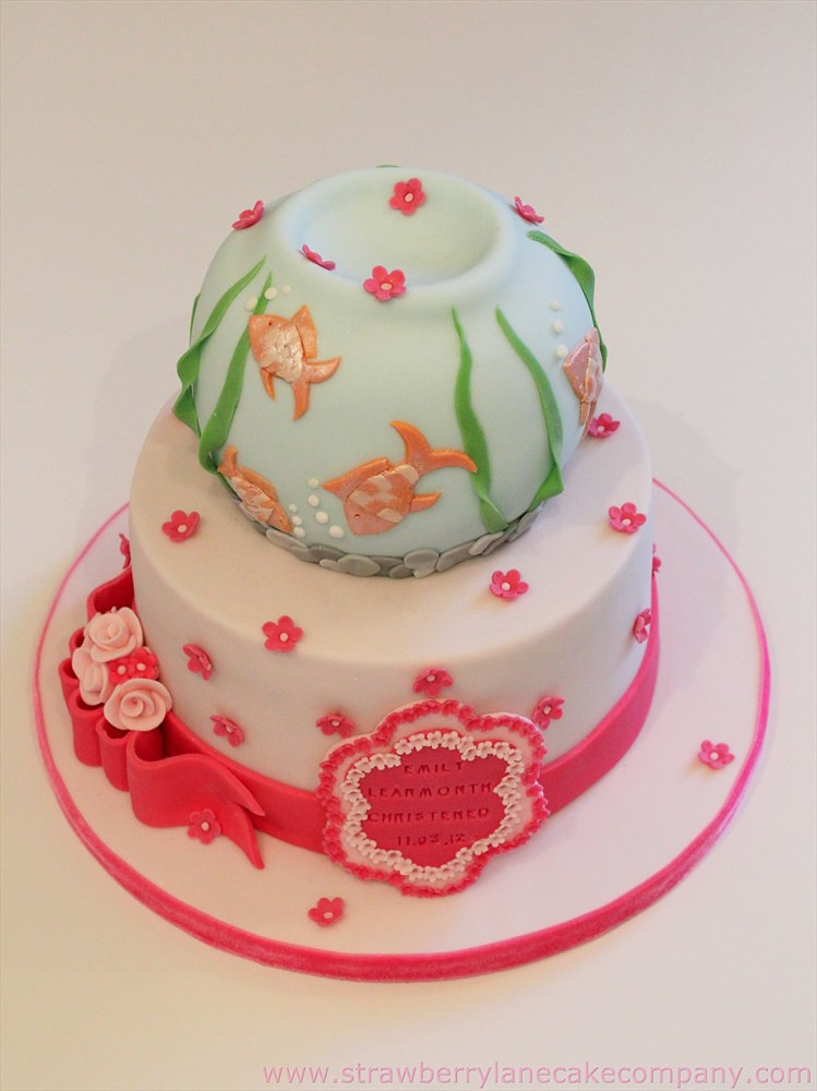 Fish Bowl Themed Christening Cake I Was Asked To Make A Fi Flickr