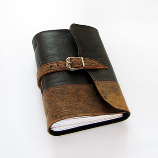 Leather journal with buckle closure | by Lariata