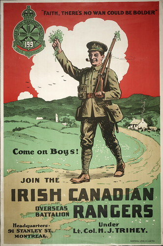 Faith, there's no wan could be bolder : come on boys! Join the Irish Canadian Overseas Battalion Rangers | by Toronto Public Library Special Collections