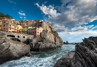 Falling Tide - (Vernazza, Cinque Terre, Italy) | by blame_the_monkey