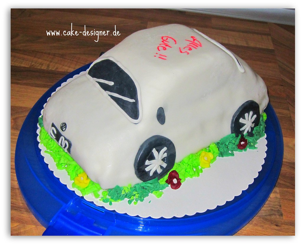 Marvelous 70 Fondant Torte Beetle Weiss Sengul Akbas Flickr Personalised Birthday Cards Veneteletsinfo