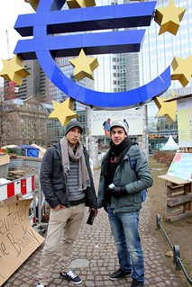 Occupy today in Frankfurt: Attraction for tourists | by S. Ruehlow