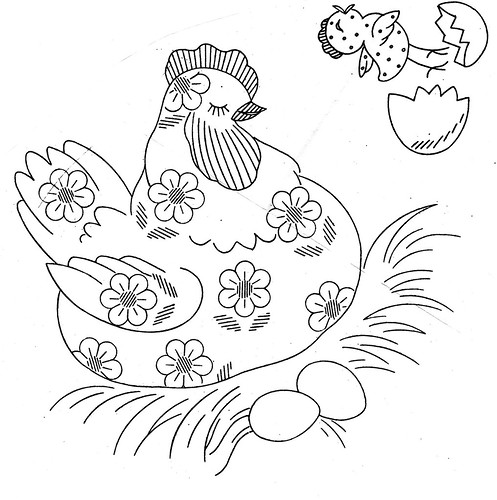 daisy chicken pattern | by kittykill