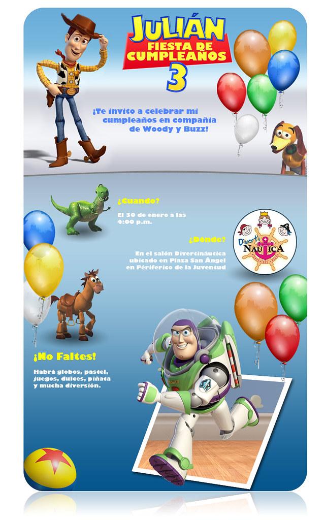 Invitacion De Toy Story Version Electronica Juan Rocha Flickr