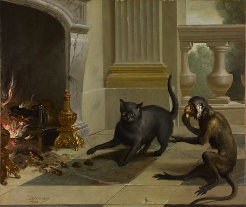 The Cat and the Monkey, Jean-Baptiste Oudry, 1739