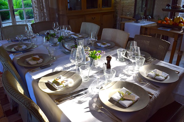 Table for Dinner at Manoir de Malagorse | www.rachelphipps.com @rachelphipps