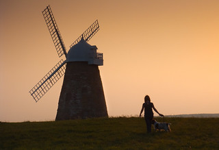 Girl and Dog at Halnaker Windmill | by sagesolar