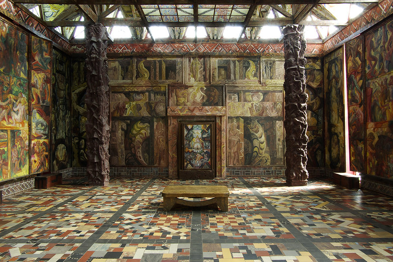 ''Second Temple Cycle'' painted wall panels of Kunststätte Bossard, Jesteburg, GERMANY