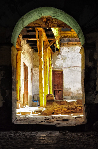 Sunlit Courtyard, Cuzco | by Rod Waddington