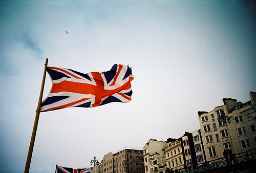 union flag on brighton sea front | by lomokev