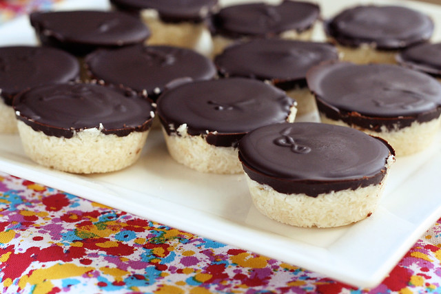 Dark Chocolate Coconut Treats - Vegan, Gluten-free + Refined Sugar-Free