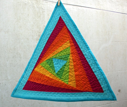 Triangle Tilt Quilt - For The Love of Solids Swap - Round Two | by Sarah @ pingsandneedles