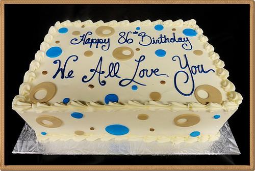 Fondant Decor On Buttercream Cake : Simple Fondant Decor Vanilla Buttercream Sheet Cake Flickr