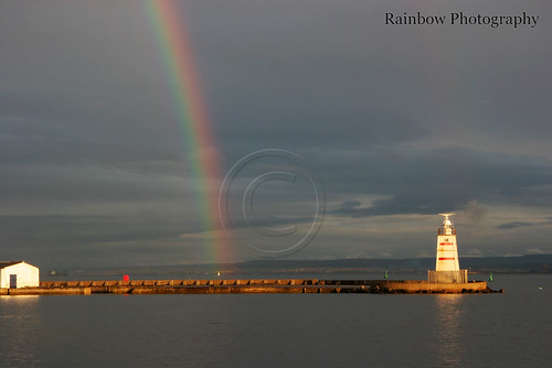 Rainbow over Hartlepool | by michael gant