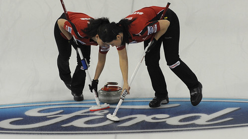 Lethbridge Ab.Ford Womans World Curling Championship 2012.Switzerland  Carman Schafer,Carman Kung.CCA/michael burns photo | by seasonofchampions
