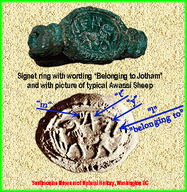 signet ring of king jotham our picture today shows a