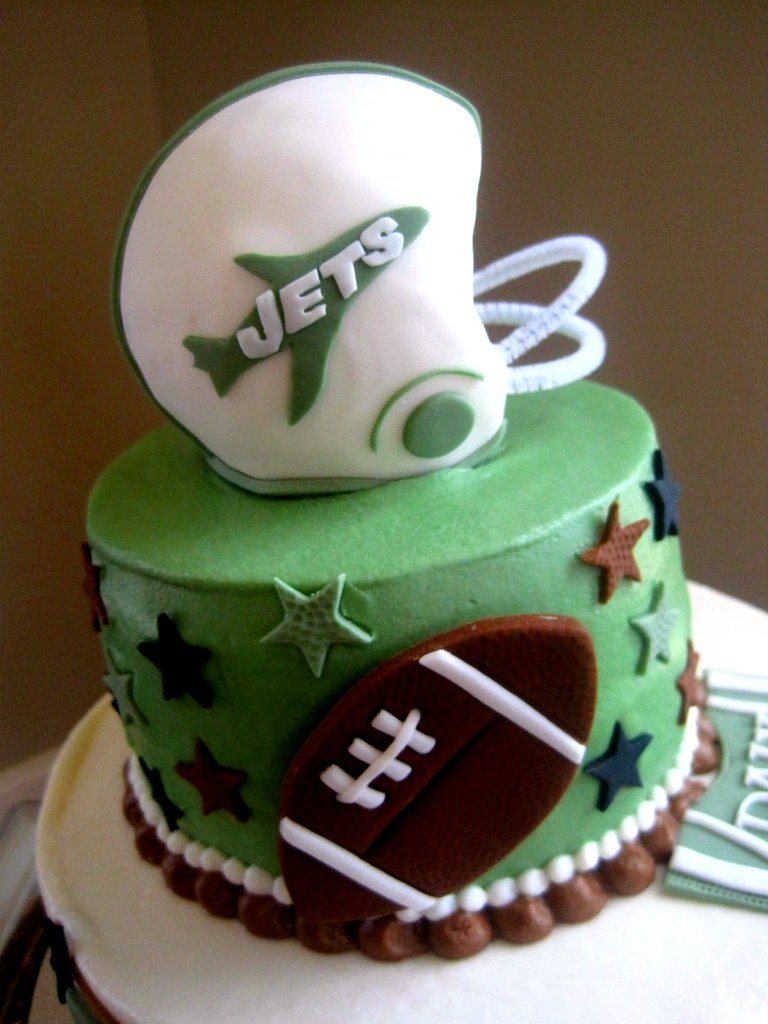 Jets Football Cake By The Cake Fairy On Facebook At F Flickr