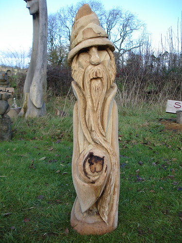 Oak wizard chainsaw carving rob beckinsale flickr