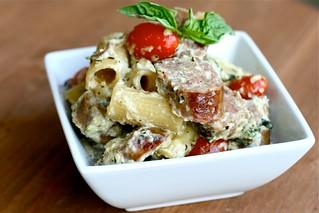 Pasta with 4 cheese Italian Sausage | by Hungry Housewife