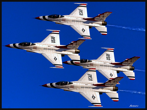 Thunderbirds over Nellis HDR. Topaz re-edit. | by airkev
