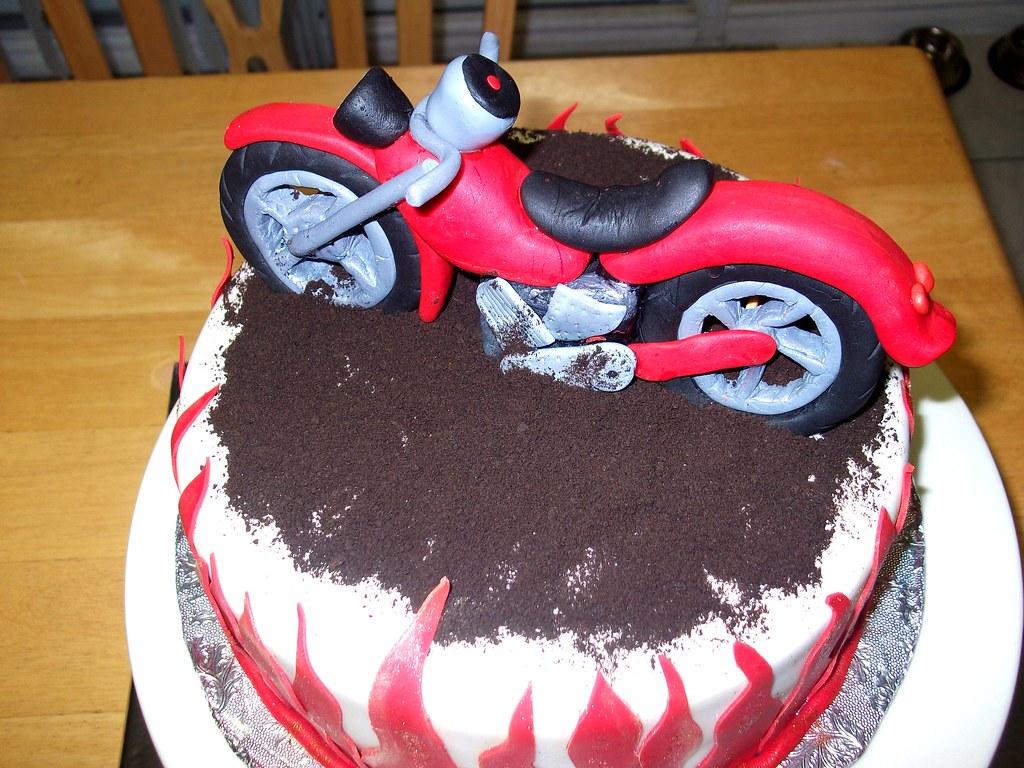 Motor Bike Birthday Cake Gabriella Flickr