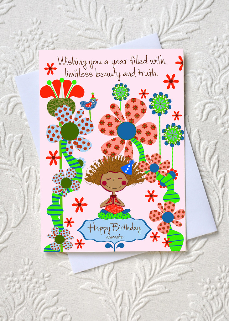 Yoga Birthday Greeting Card