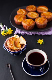 Peach, Oatmeal and Apricot Jam Cupcakes or Muffins | by Yelena Strokin