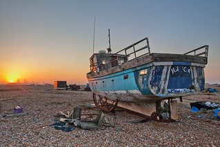 Sunset at Dungeness, Kent Feb 2012 HDR | by Annavr6Photography