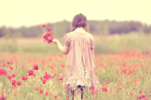 Image result for girl alone with flower