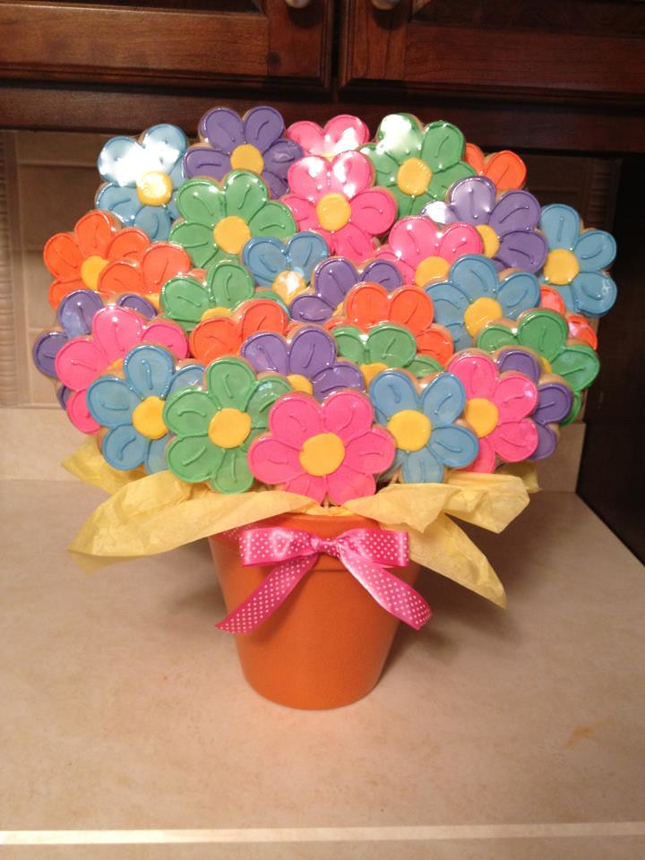 Giant Flower Cookie Bouquet | 30 Cookies | SugarMeSweetConfections ...